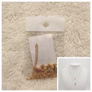 Moon & Star Necklace Gold Dangle Pretty
